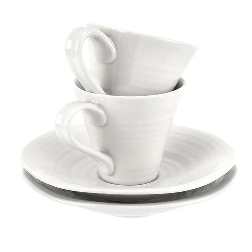 Sophie Conran Portmeirion Esspresso Cup and Saucer x2