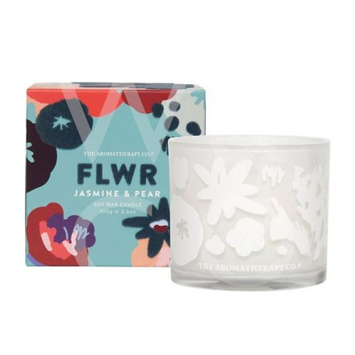 The aromatherapy co. FLWR jasmine and pear candle 100g