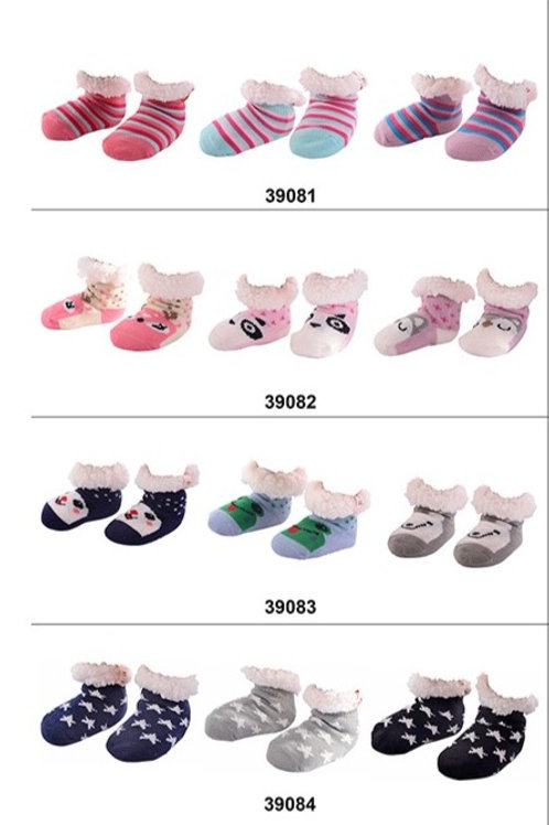 Nuzzles Toddler Non-Skid Sole Socks