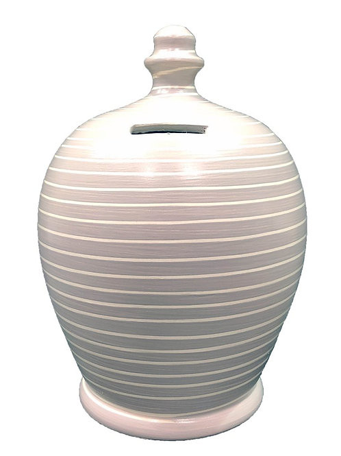Terramundi grey and white striped pot
