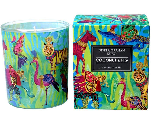 Gisela Graham Coconut and Fig Scented Candle (large)