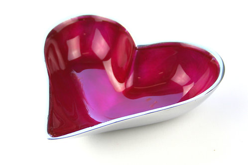 Azeti recycled aluminium pink mini heart bowl