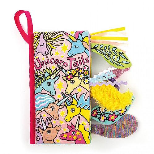 Jellycat 'unicorn tails' squishy book
