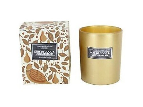 Gisela Graham Noix De Coco & Gingerbread Scented Candle (large)