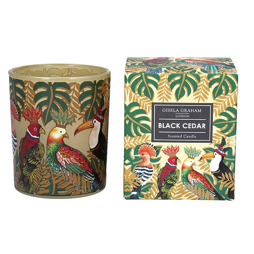 Gisela Graham Black Cedar Scented Candle (large)