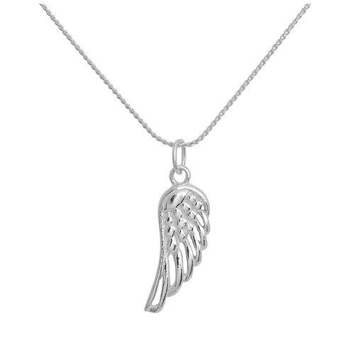 Jambo jewellery sterling silver angel wing pendant