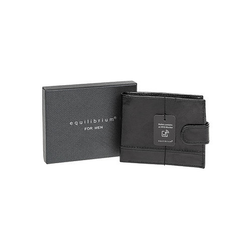 Equilibrium Men's Black Wallet with RFID Blocker