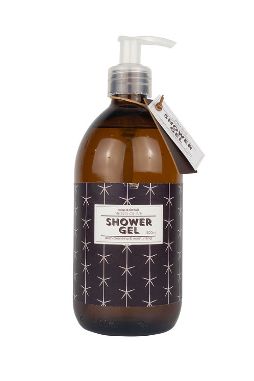 Sting in the tail men's olive shower gel (500ml)