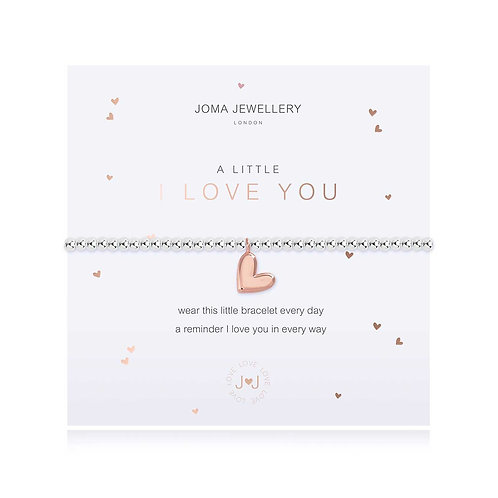 Joma Jewellery 'a little i love you' silver plated bracelet