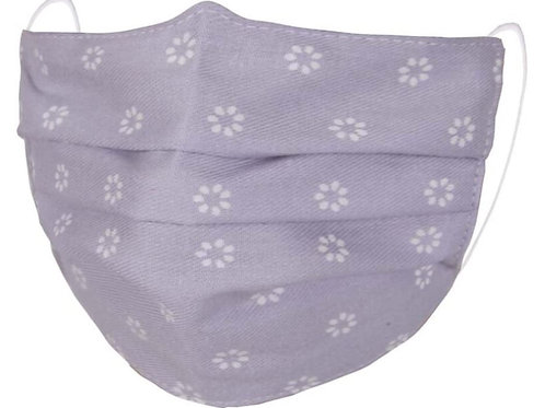 Zelly Kids Fashion Face Covering - Lavendar with White Flowers