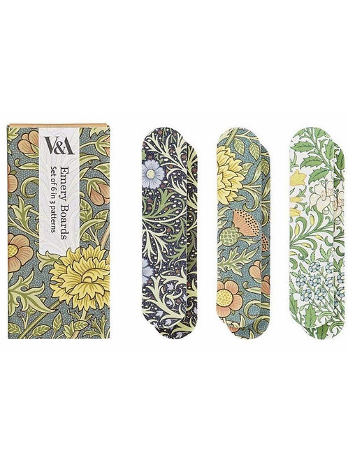 V&A floral print emery boards set of 6