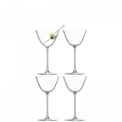 LSA Borough Set of 4 Martini Glasses -  195 ml