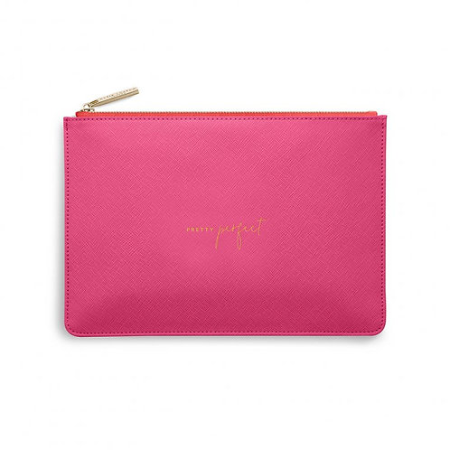 Katie Loxton Colour Pop 'pretty perfect' pink and red pouch