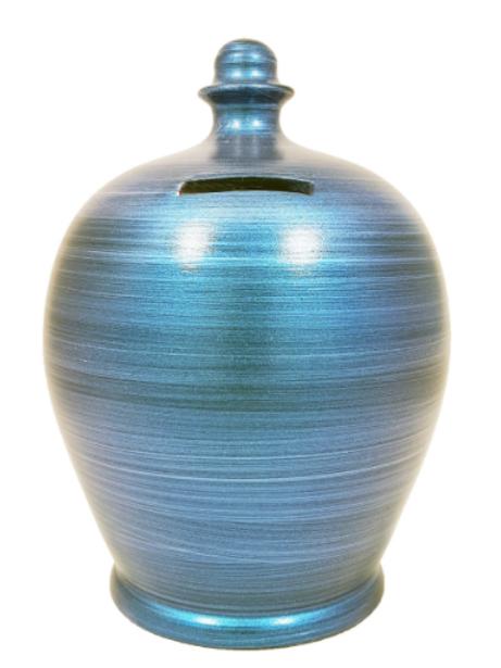 Terramundi metallic blue pot