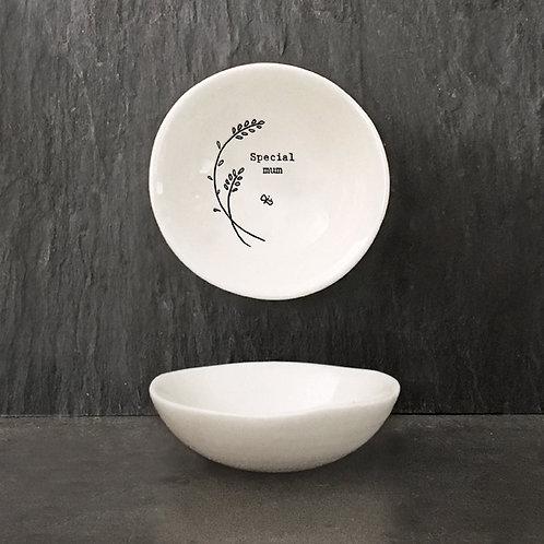 East of india 'special mum' medium hedgerow boxed porcelain bowl