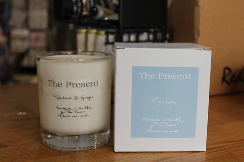 The Present Rhubarb and Ginger Scented Candle