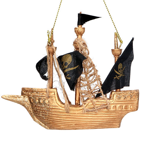 Gisela Graham Captain Hooks Ship Christmas Decoration