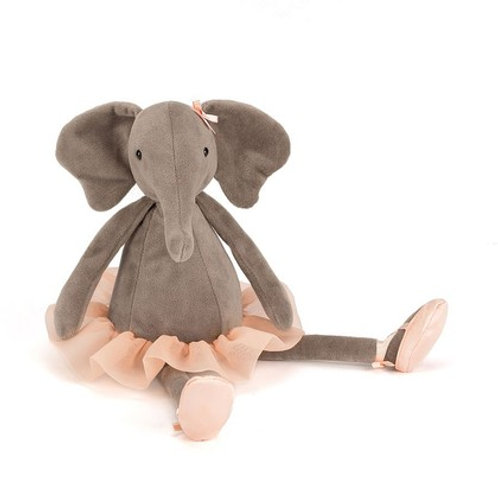 Jellycat small dancing darcey elephant cuddly toy