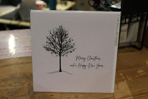 Five Dollar Shake Festive Winter Tree Christmas Card