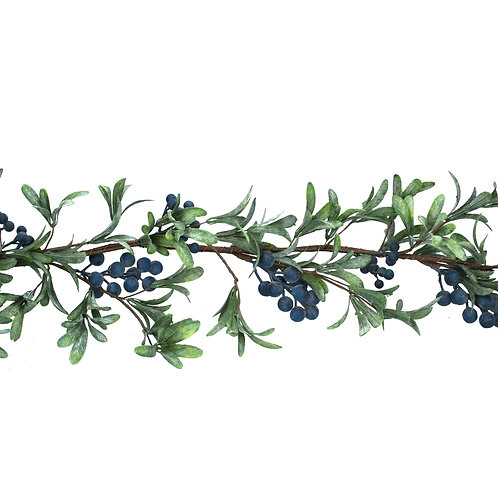 Gisela Graham Blue Berries Christmas Garland
