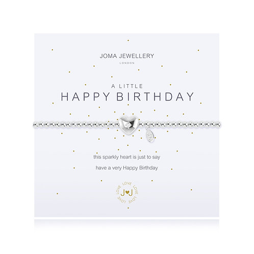 Joma Jewellery 'a little happy birthday' silver plated bracelet