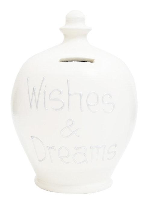 Terramundi white 'wishes and dreams' pot