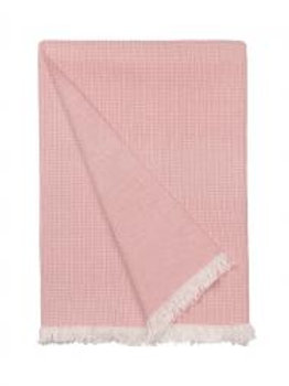 Cosy living elsa throw in dusty rose