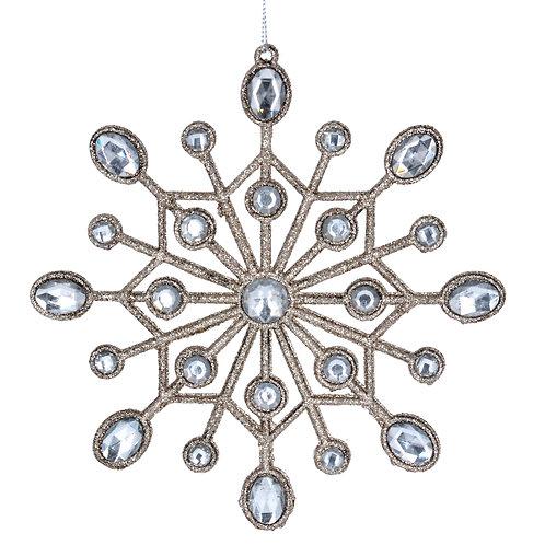 Gisela Graham Silver Snowflake Christmas Decoration