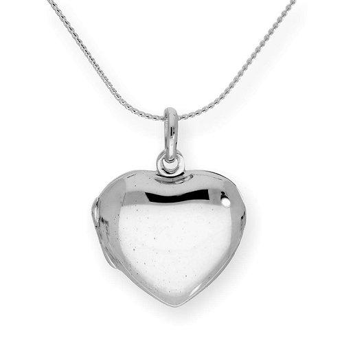 Jambo jewellery sterling silver plain heart locket