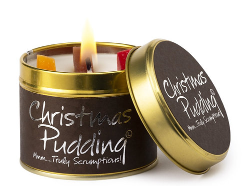 Lily Flame 'Christmas Pudding' Scented Candle Tin