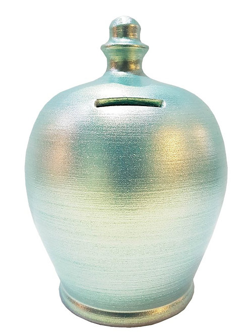 Terramundi metallic aqua pot
