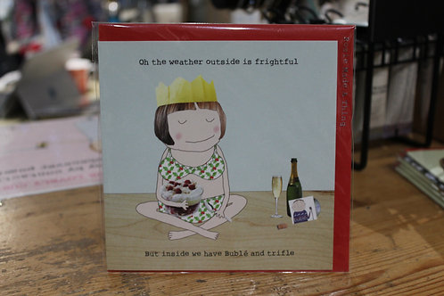 Rosie Made a Thing 'oh the weather outside is frightful' Christmas Card