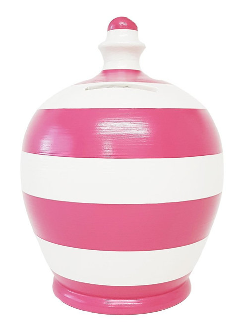Terramundi pink and white striped pot