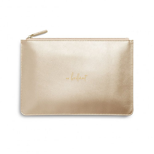 Katie Loxton Quote Pouch 'be brilliant'