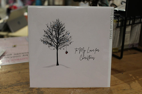 'To my Love for Christmas' Winter Tree Romantic Christmas Card