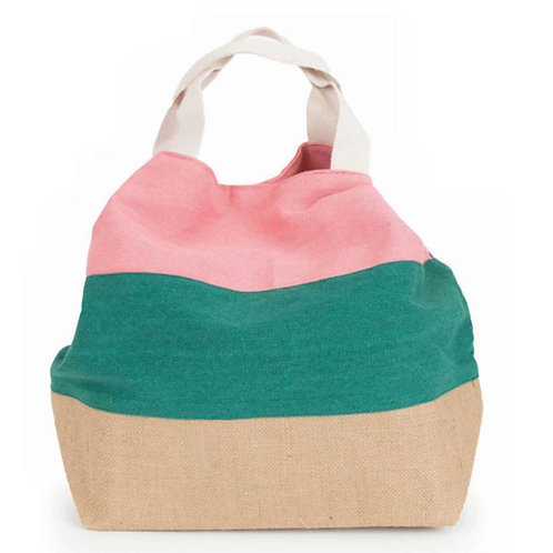 Powder boho salmon and green mix bag