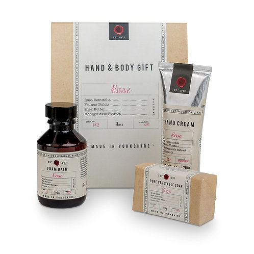 Fikkerts fruit of nature rose hand and body gift set