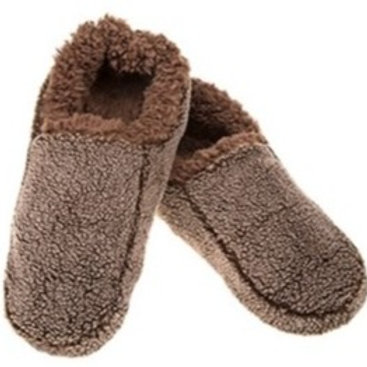 Snoozies Fuzzy Slippers - Brown