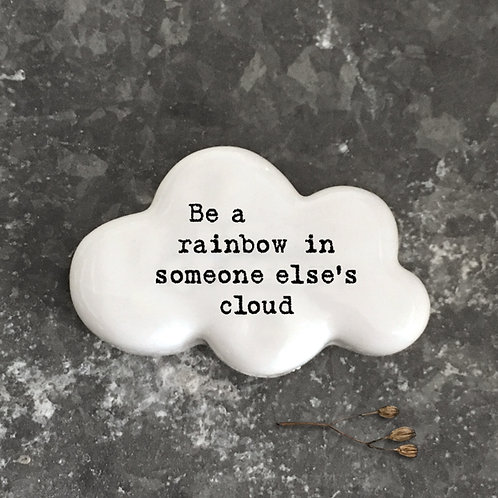 East of india 'be a rainbow' porcelain quote cloud