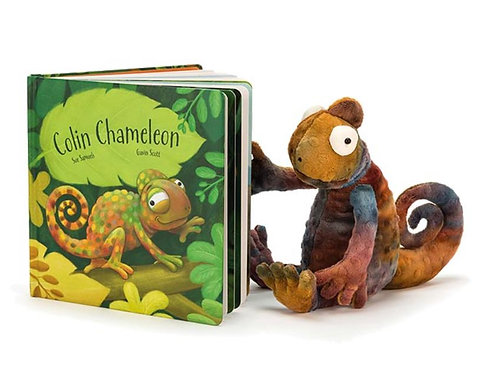 Jellycat Colin Chameleon Picture Book (toy not included)