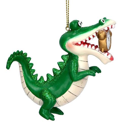 Gisela Graham Peter Pan Crocodile Christmas Decoration