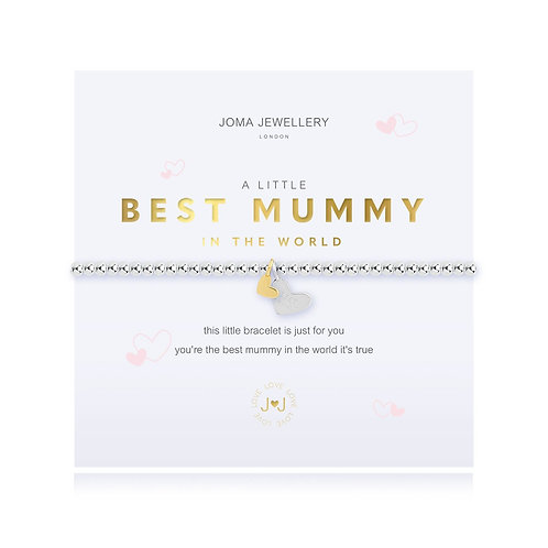 Joma Jewellery 'a little best mummy in the world' silver plated bracelet