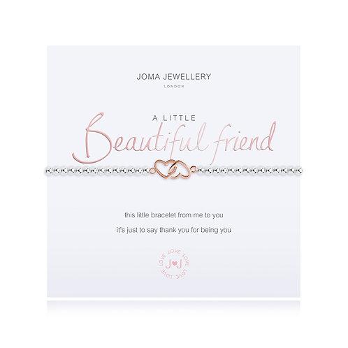 Joma Jewellery 'a little beautiful friend' silver plated bracelet