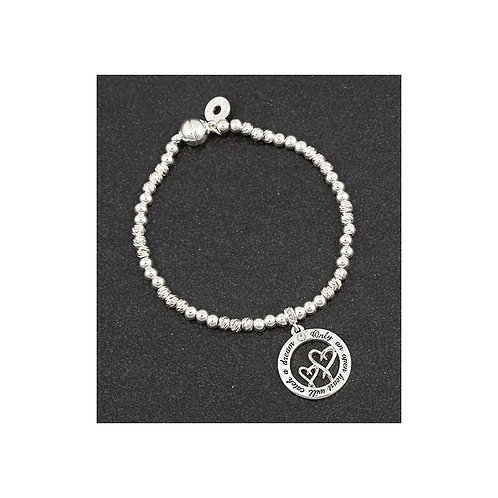 Equilibrium 'only an open heart will catch a dream' silver plated bracelet