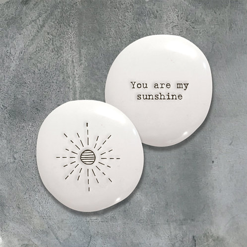 East of india 'you are my sunshine' boxed double sided pebble