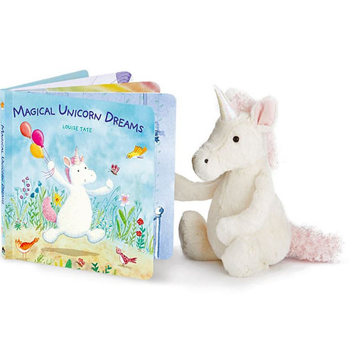 Jellycat Magical Unicorn Dreams Picture Book+ Bashful Unicorn