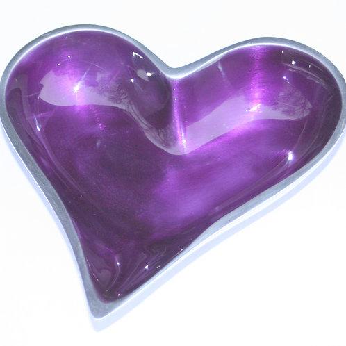 Azeti recycled aluminium purple mini heart bowl
