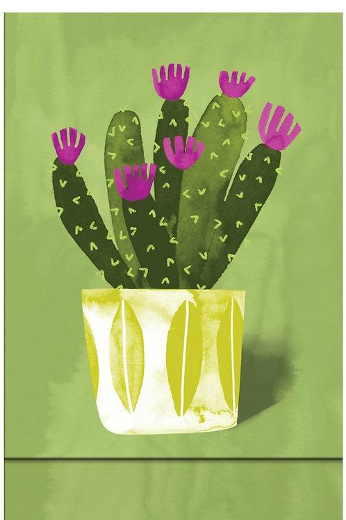 Roger la borde green potted plant magnetic notebook