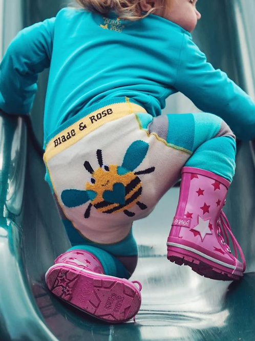 Blade and rose buzzy bee leggings