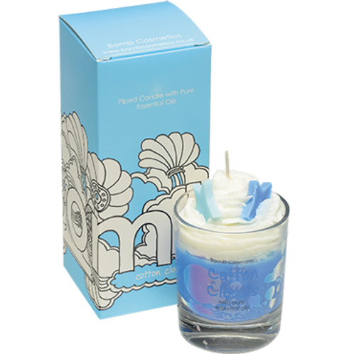 Bomb cosmetics cotton clouds piped candle